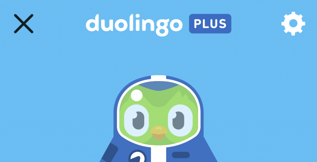 Duolingo Plus is that thing that puts the owl in a space suit and gives the app a galactic blue makeover.