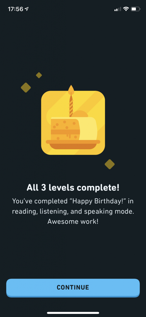 Duolingo Stories all 3 levels complete