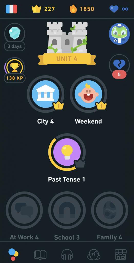 Duolingo Dark Theme